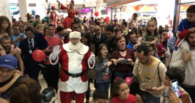 Festa de Chegada do Papai Noel abriu a temporada de Natal no Atrium Shopping